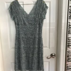 Dresses & Skirts - Gray embellished cocktail dress